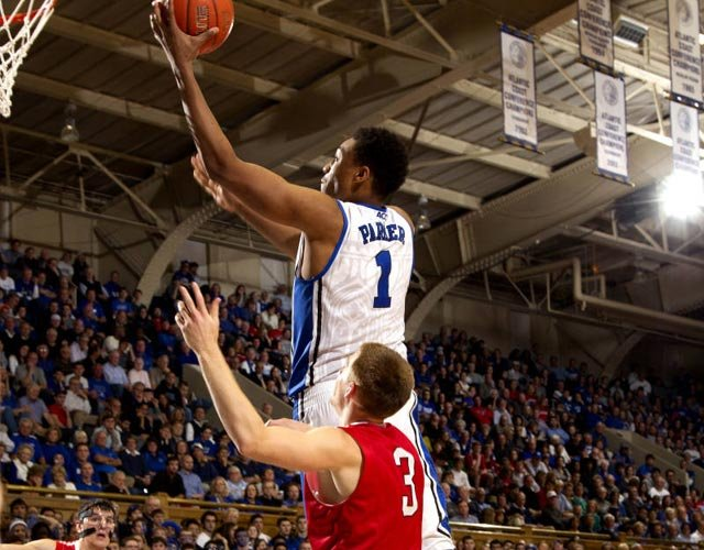 Blue Devils freshman Jabari Parker has exceeded the considerable hype surrounding him early on in 2013-14. (Source: Duke Photography)