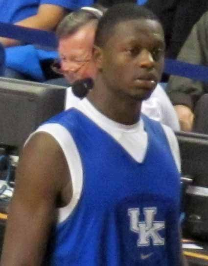 Julius Randle at the Kentucky Blue-White game. (Source: Acdixon/Wikimedia Commons)
