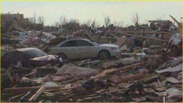 Damage out of Washington, IL. (Source: CNN)