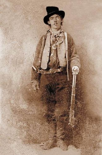 Billy the Kid, shown here, was purportedly born Nov. 23, 1859. (Source: Wikimedia Commons)