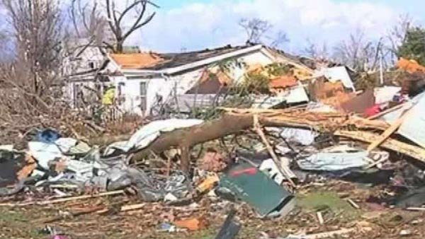 Gifford, IL, was among the communities ravaged by Sunday's storms. (Source: WCIA/CNN)
