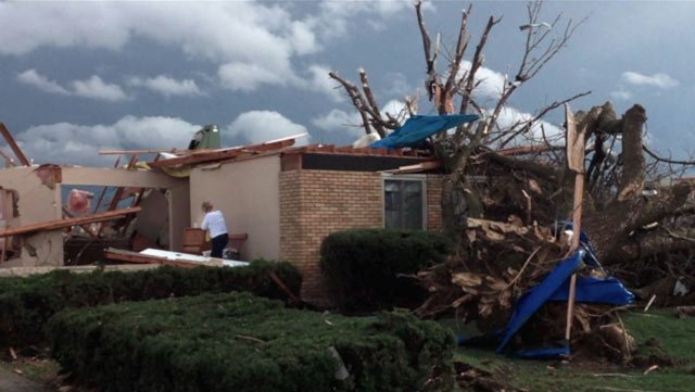 A house in Washington, IL, was destroyed by a tornado Sunday. (Source: Jim Ardis/CNN)