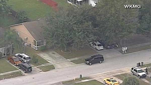 Exteriors of the home in Apopka, FL where George Zimmerman was arrested on Monday. (Source: WKMG/CNN)