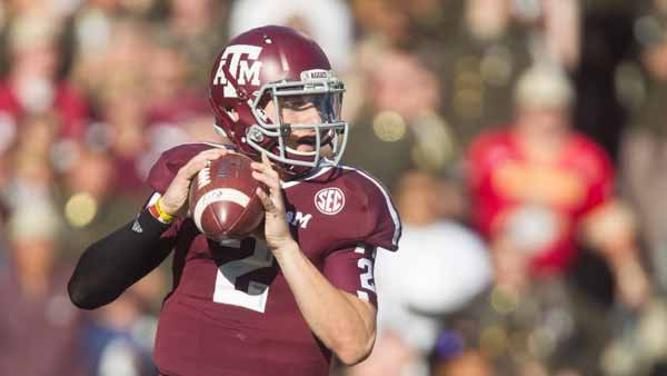 Johnny Manziel is the leader in the Heisman race. A big game against LSU could cinch his second straight trophy. (Source: Texas A&M Media Relations)