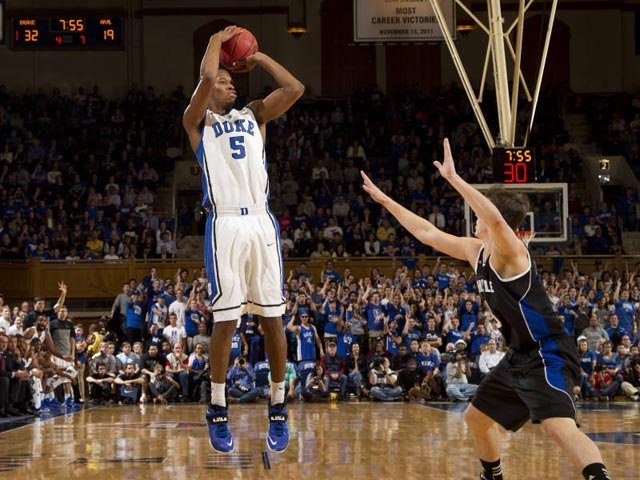 Rodney Hood (5) has put up All-American type numbers through five games with the Blue Devils. (Source: Duke photography/GoDuke.com)