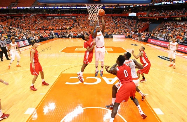 C.J. Fair (5) leads the Syracuse Orange into the Maui Invitational tournament Monday. (Source: Syracuse University Athletic Communications)