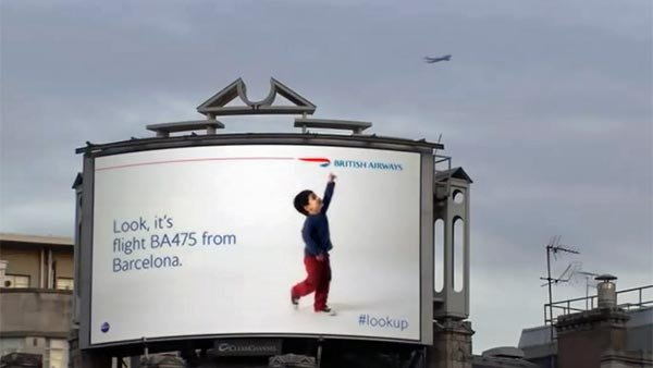 British Airways devised a brilliant way to catch people's attention, even the ones who don't plan on flying any time soon. (Source: YouTube)
