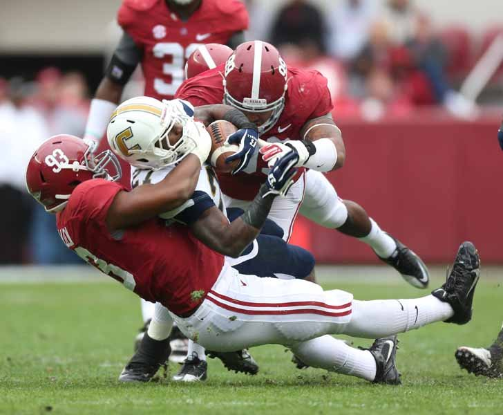 Helping McCarron will be the Crimson Tide's defense, which is No. 3 in the nation and fifth nationally against the run. (Source: Alabama Athletics)