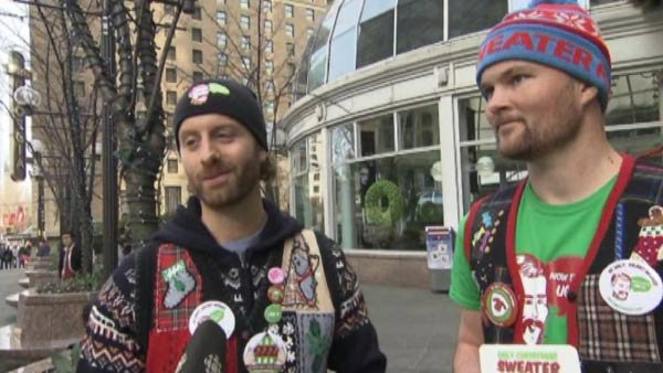 Themed parties and vintage stories are among the things that have made ugly sweaters trendy. (Source: CBC News/CNN)