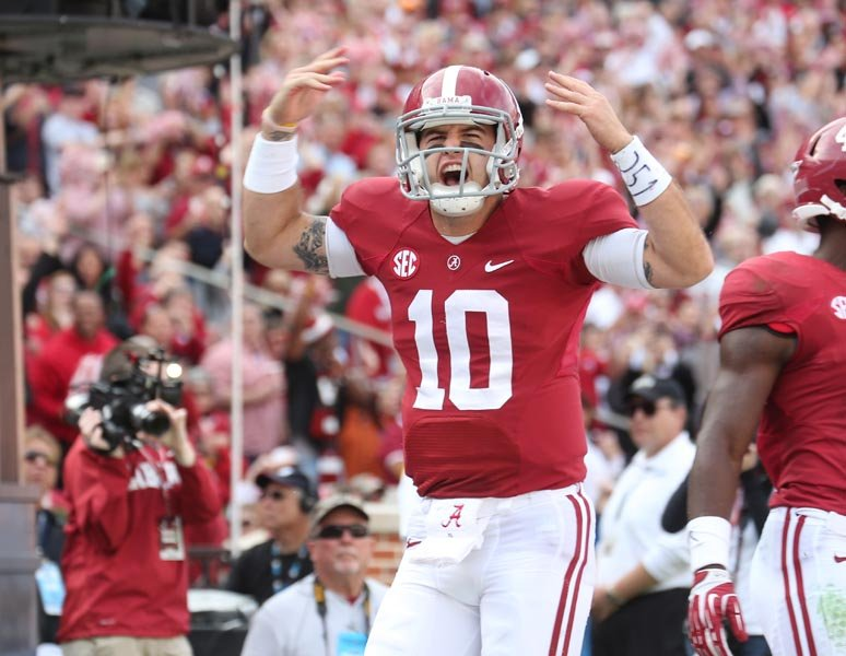 Alabama quarterback AJ McCarron leads his team into the Iron Bowl chasing a third consecutive national championship and the Heisman Trophy. (Source: Alabama Athletics)