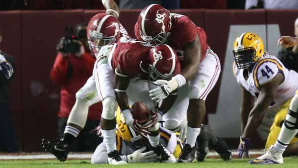 Alabama's defense has given up five touchdowns in its last nine games. (Source: Alabama Athletics Communications)