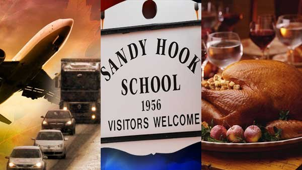 Nasty weather during holiday travel, the official report on the Sandy Hook Elementary School shooting and Thanksgiving caught our eye this week.