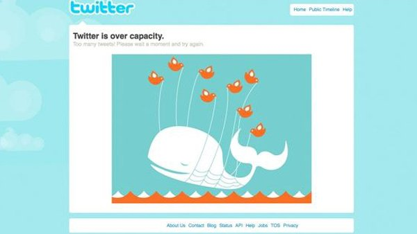 Early Twitter adapters were accustomed to seeing the Fail Whale whenever web traffic overwhelmed the site. (Source: Twitter/MGN photos)