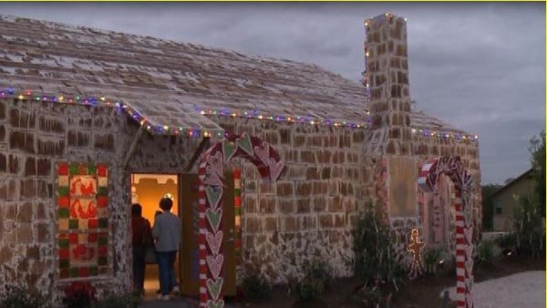 World's largest gingerbread house built in Texas. (Source: KBTX/CNN)