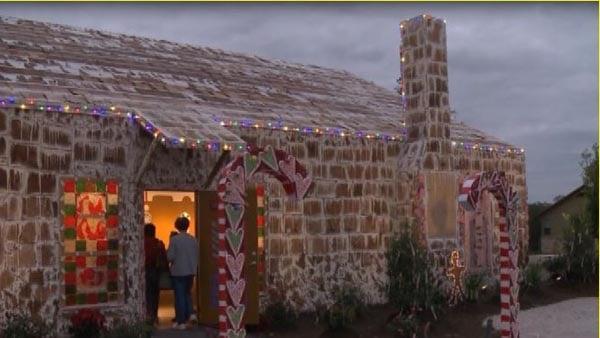 World's largest gingerbread house built in Texas. (Source: KBTX/CNN)