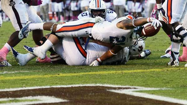 Tre Mason and Auburn will try to stretch their fortunes for a few more games, starting with Saturday's SEC Championship Game against Missouri. (Source: Todd Van Emst/Auburn Athletics)