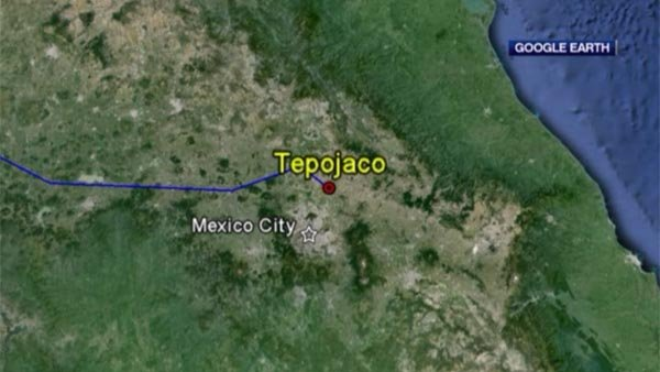 A truck carrying a radioactive source is stolen in Mexico. (Source: Google Earth/CNN)
