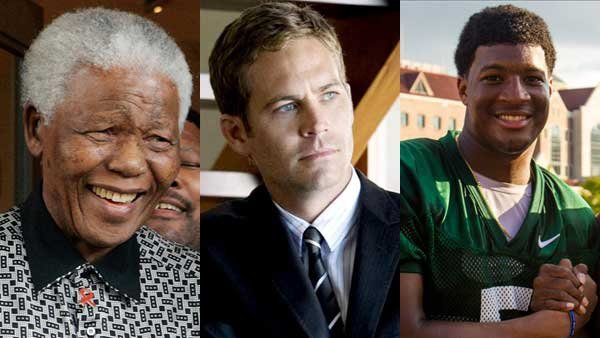 The death of Nelson Mandela, the cause of Paul Walker's death and Florida State quarterback Jameis Winston being cleared in a criminal investigation all made headlines this week.