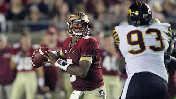 Jameis Winston became the youngest winner in the history of the award, winning in a runaway vote. (Source: FSU Sports Information/Bill Pea