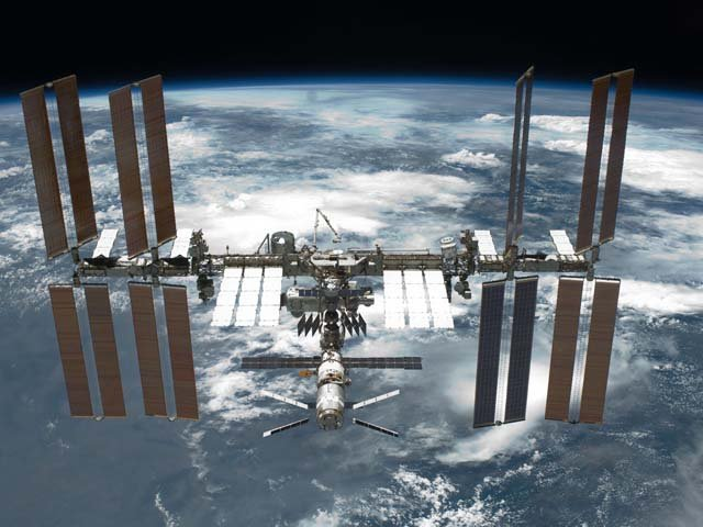 A cooling system failed above the International Space Station, and may require a spacewalk to fix. (Source: NASA)