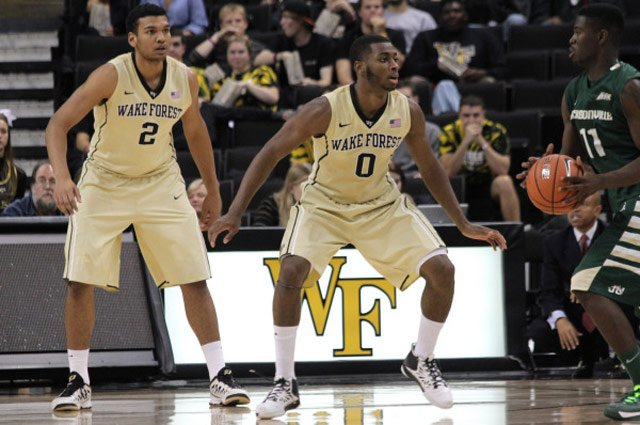 Devin Thomas (2) and Codi Miller-McIntyre (0) have shown significant improvement in their second year of play for Wake Forest. (Source: WakeForestSports.com)