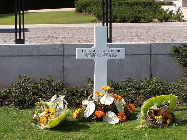 The grave of Gen. George Patton. (Source: Albert Foley/Wikimedia Commons)