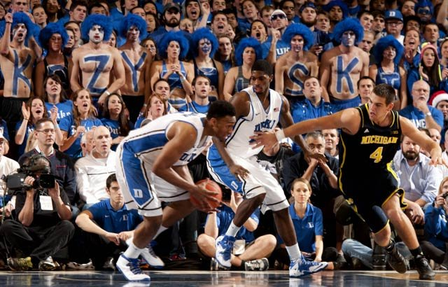 Jabari Parker grabs a loose ball in the Dec. 3 game between Duke and Michigan. The Blue Devils face UCLA on Thursday. (Source: Duke Photography)