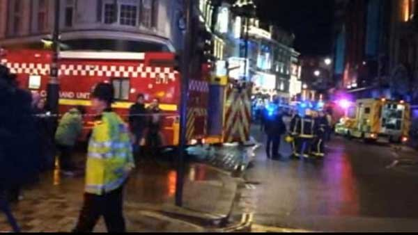 Multiple injuries have been reported after a structural collapse at the Apollo theatre in London. (Source: CNN)