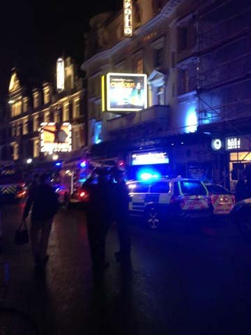 A rescue operation was under way Thursday after part of the structure of the Apollo theatre in London collapsed during a performance. (Source: CNN)