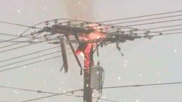 Snow storms in Utah caused power surges and electrical fires in one city. (Source: KSTU/CNN)