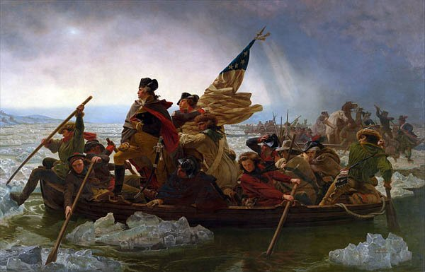 A painting by Emanuel Leutze depicting George Washington crossing the Delaware River. (Source: Wikimedia Commons)