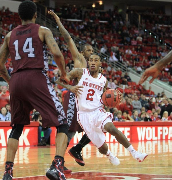 Cat Barber (2) has stepped in and excelled his freshman season for NC State. (Source: NC State Athletics Communications)
