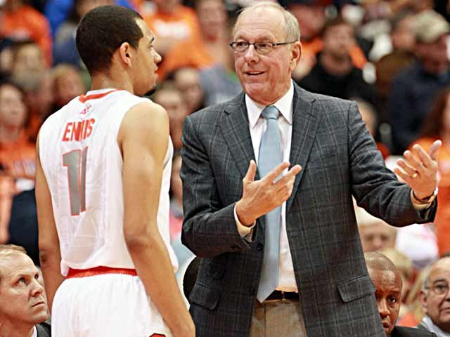 Like any freshman, Tyler Ennis needs a lot of coaching, but you wouldn't know that by the way he has played so far. (Source: Syracuse Athletic Communications)