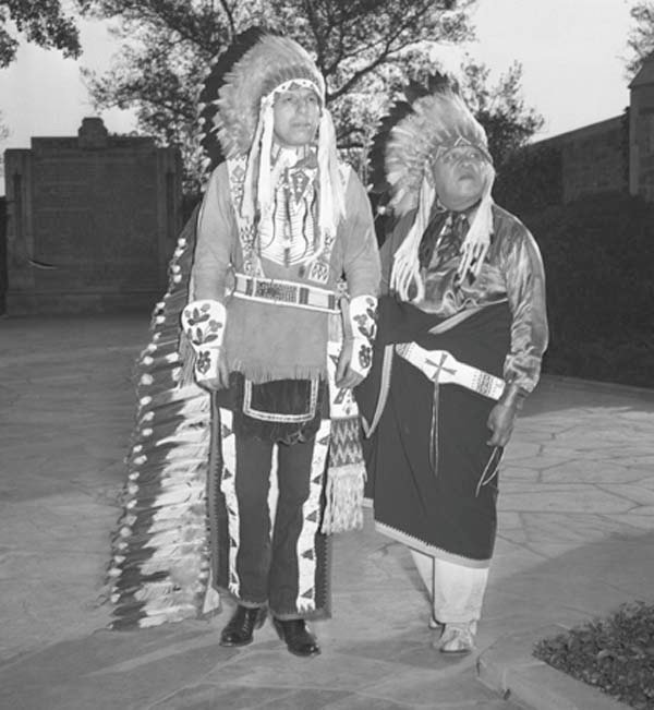 Iron Eyes Cody, left, died Jan. 4, 1999. (Source: Wikimedia Commons)
