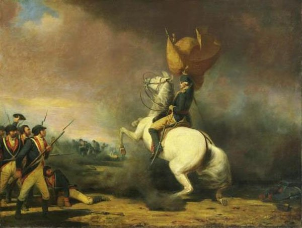 This painting depicts George Washington at the Battle of Princeton, which was fought Jan. 3, 1777. (Source: Wikimedia Commons)