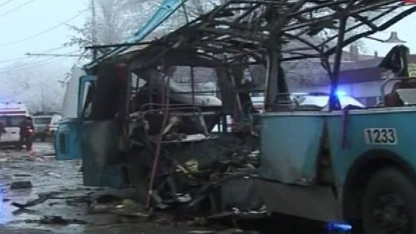 The second explosion in two days occurred in Volgograd, in southern Russia. (Source: Russia 24/CNN)