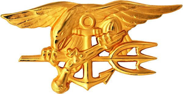 The Navy SEAL insignia. The SEALs were created Jan. 1, 1962. (Source: U.S. Navy/Wikimedia Commons)