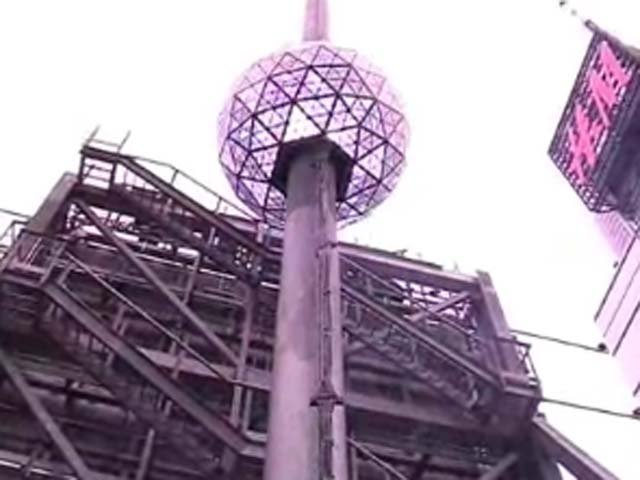 The ball in Times Square will be lowered by Supreme Court Justice Sonia Sotomayor. (Source: NY1/CNN)