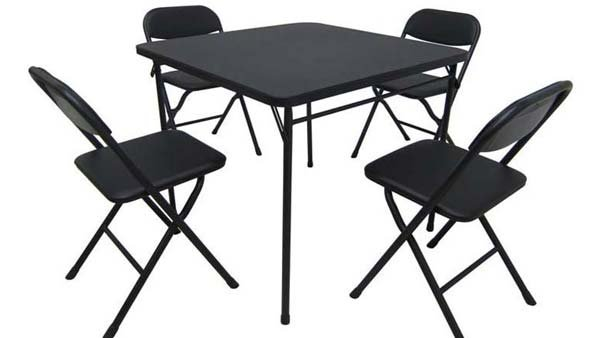 Walmart is recalling about 73,400 Mainstays five-piece card table and chair sets because the chairs can collapse unexpectedly. (Source: CPSC)