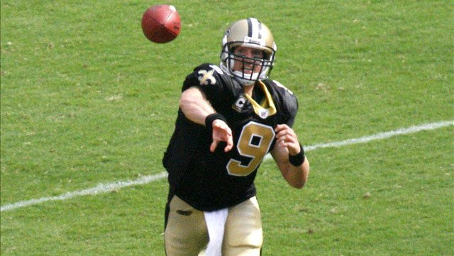 Drew Brees and the New Orleans Saints travel to Philadelphia to face the Eagles on Saturday for the first round of the NFL Playoffs. (Source: Wiki Commons/MGN)