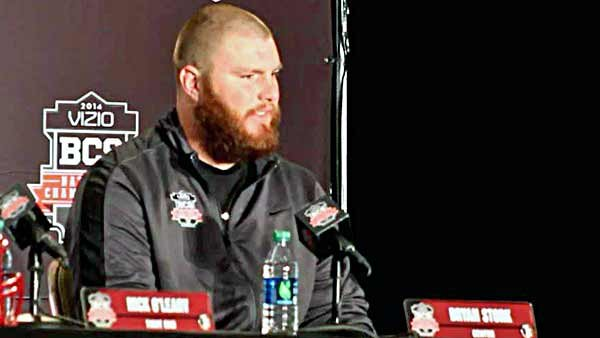 Bryan Stork, recognized this year as the best center in college football, talks about the team chemistry among the Seminoles. (Source: George Jones/Raycom News Network)