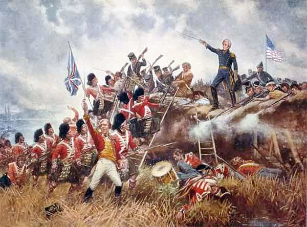 This painting depicts Andrew Jackson at the Battle of New Orleans. (Source: Wikimedia Commons)