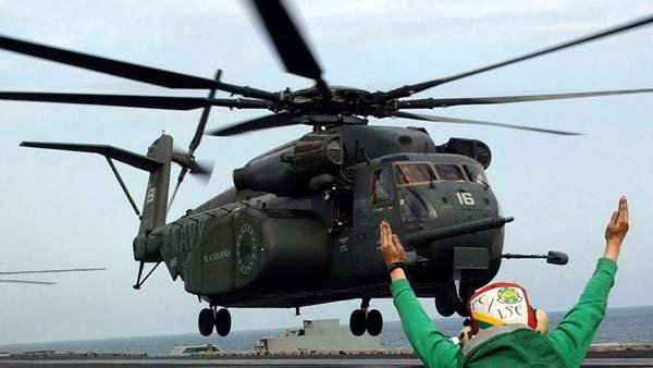 A MH-53E Sea Dragon, similar to this one, crashed off the coast of Virginia on Wednesday. (Source: U.S. Navy)