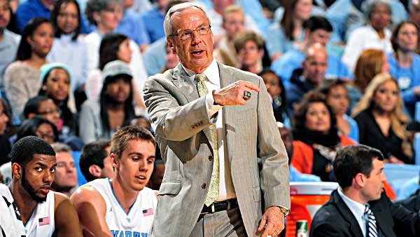 Roy Williams has his hands full juggling all the issues his team is dealing with this season. (Source: North Carolina Athletics)