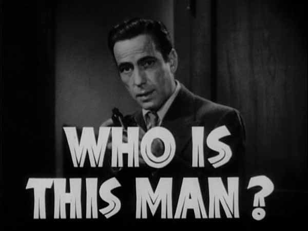 In case you didn't guess correctly, it's Humphrey Bogart, who died Jan. 14, 1957. This is an image from the trailer for The Maltese Falcon. (Source: Wikimedia Commons)