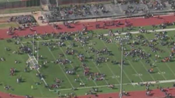 "Authorities found ""a potential explosive device"" at a Houston area high school Monday morning. (Source: KPRC/CNN)"