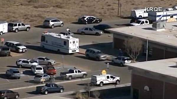 Two children were taken to a hospital after a report of a shooting at a New Mexico middle school. (Source: KRQE/CNN)