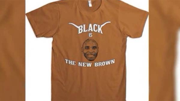 Some feel a t-shirt that capitalizes on new University of Texas head football coach Charlie Strong is offensive. (Source: KEYE/CNN)