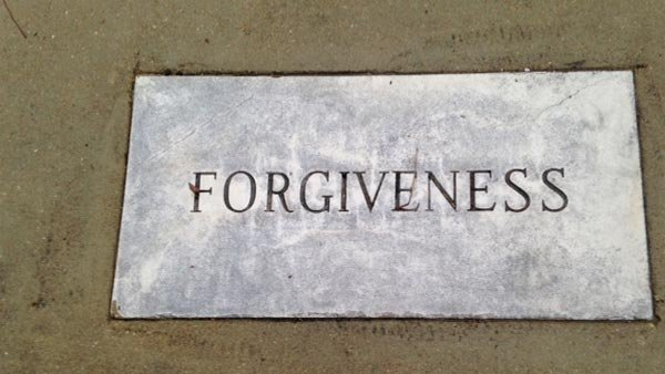 Forgiveness is one of the qualities highlighted by a marker in the King-Johns Garden for Reflection located behind the parsonage. Vernon Johns, the minister who preceded King, encouraged the congregation to act on their faith. (Source: Paul Sullivan/RNN)