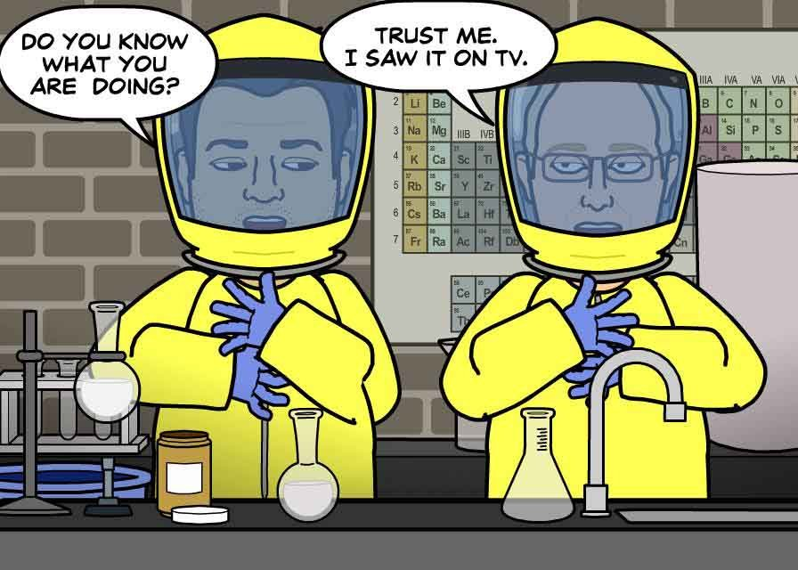 Brian and Tom use life to imitate art. (Source: Bitstrips/Facebook)